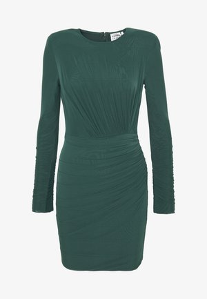 RUCHED LONGSLEEVE MINI - Vestito di maglina - bright elm