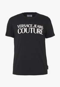 Versace Jeans Couture - BASIC LOGO - Print T-shirt - black - 4