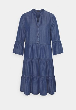DRESS SHORT - Denimové šaty - mid blue denim