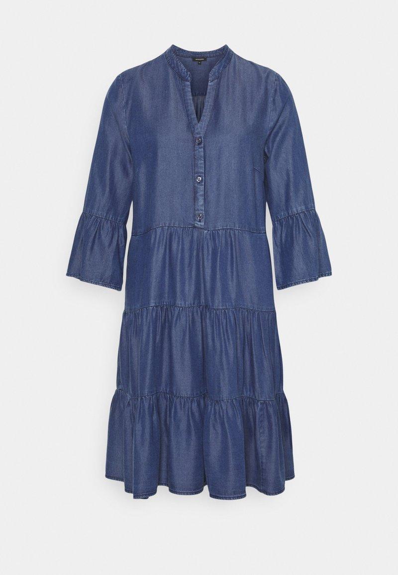 More & More - DRESS SHORT - Denim dress - mid blue denim