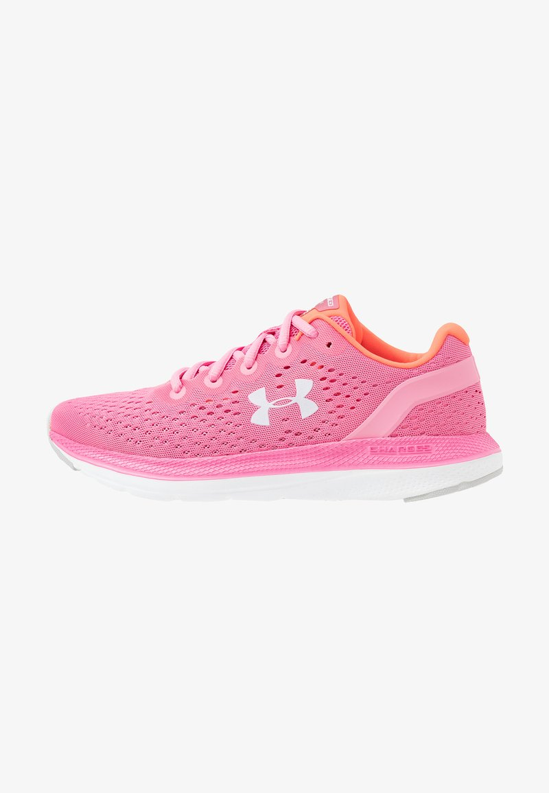 Under Armour - CHARGED IMPULSE - Zapatillas de running neutras - lipstick/white/halo gray