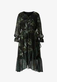 Sara Lindholm by HAPPYsize - Maxi dress - schwarz/grün - 2