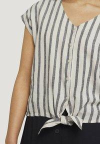 TOM TAILOR DENIM - Blouse - black beige stripe - 3
