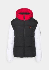 Calvin Klein Jeans - COLOURBLOCK PUFFER - Winter jacket - black/ white / red - 5