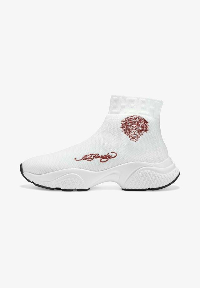 SOCKED - Höga sneakers - white
