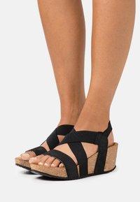 Copenhagen Shoes - STACIA - Sandalias con plataforma - black - 0