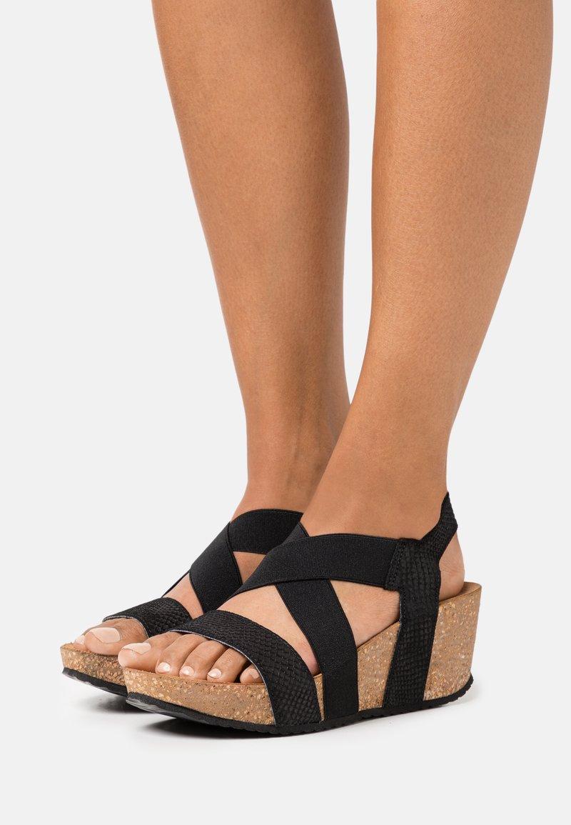 Copenhagen Shoes - STACIA - Sandalias con plataforma - black
