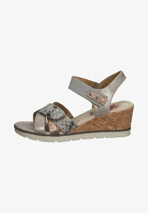 Wedge sandals - marron clair smoke
