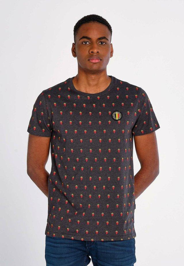 T-shirt imprimé - zwart