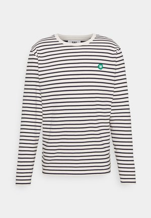 Camiseta de manga larga - off white/navy stripes