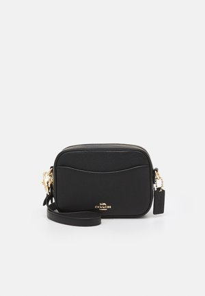 POLISHED PEBBLE CAMERA BAG - Across body bag - black
