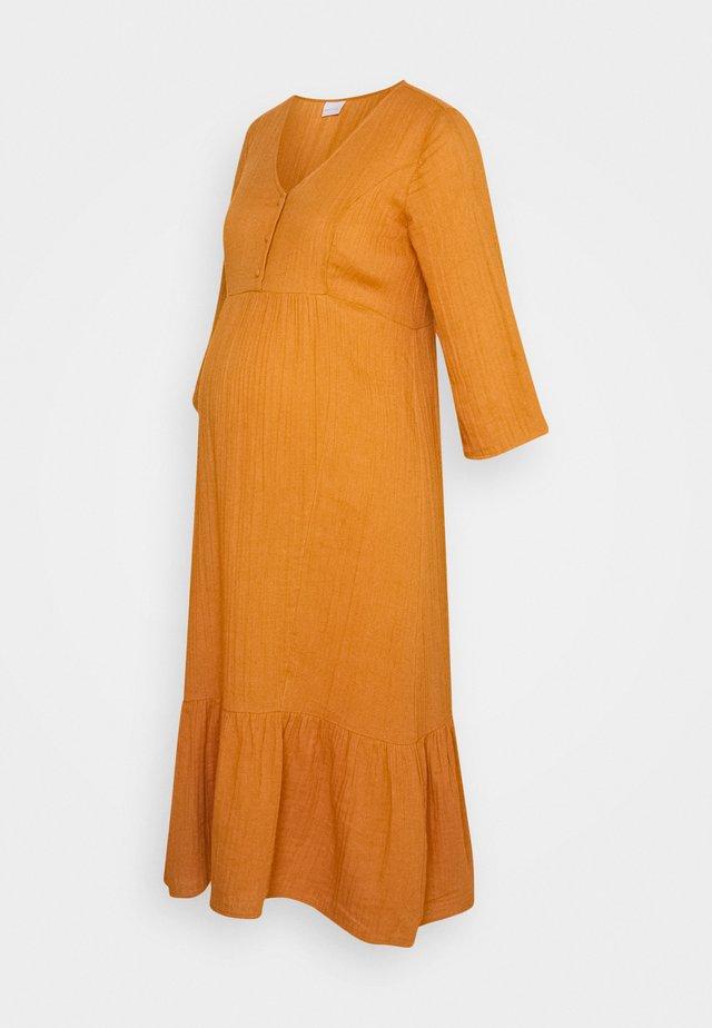 MLNOMA MIDI DRESS - Day dress - sudan brown