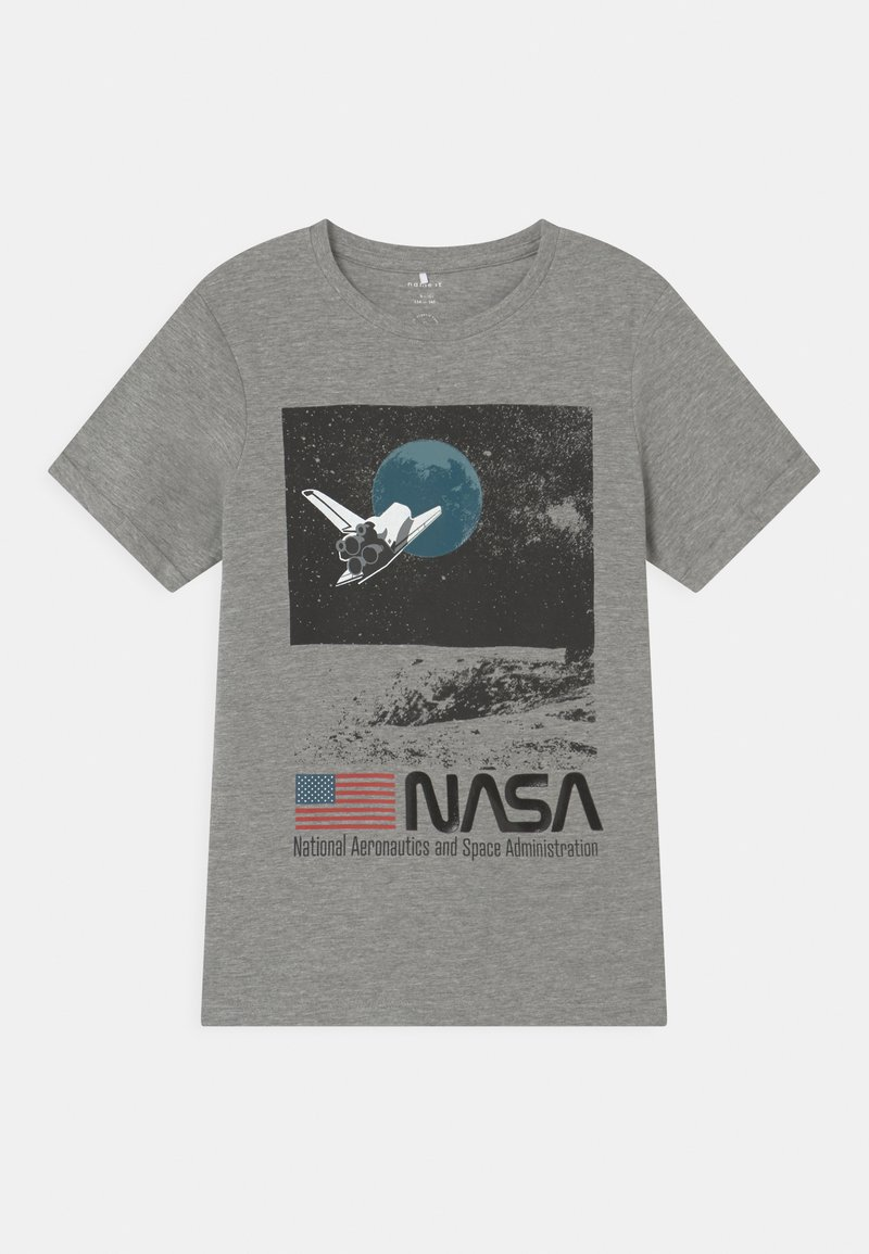 Name it - NKMNASA OBERT - Print T-shirt - grey melange
