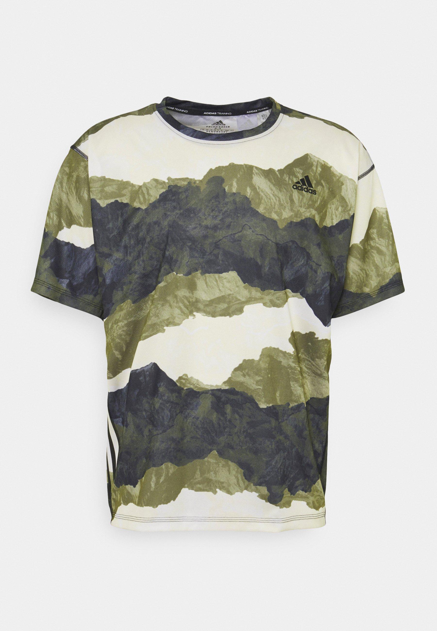 Men MENS TEE TRAINING WORKOUT DESIGNED4TRAINING AEROREADY PRIMEGREEN T-SHIRT - Print T-shirt