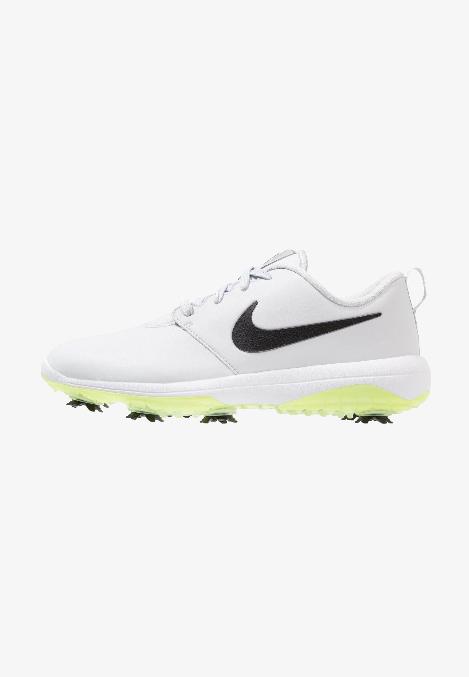 Nike Golf Roshe G Tour Golf Shoes Pure Platinum Black White Volt Glow Zalando Ie