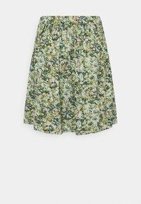 Marc O'Polo DENIM - SKIRT - Mini skirt - multi/fresh herb - 1