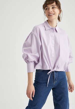 Button-down blouse - purple