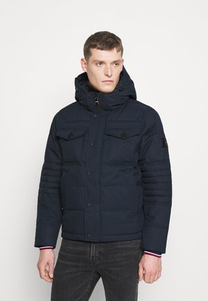 REMOVABLE HOODED BOMBER - Kurtka zimowa - blue