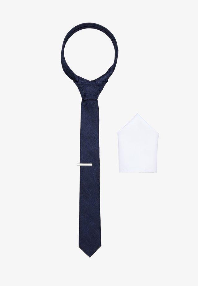 JACRICK GIFT BOX SET - Kapesník do obleku - navy blazer
