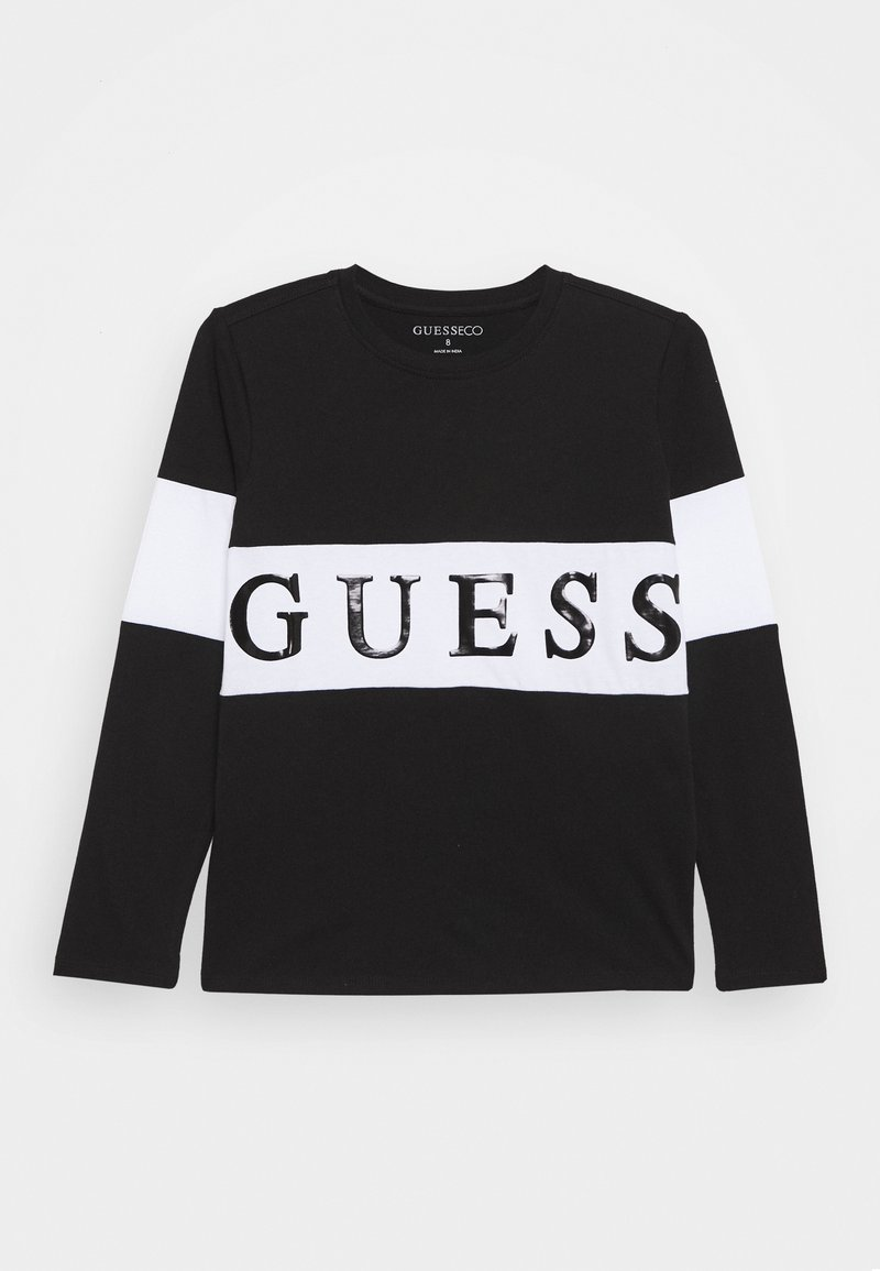 Guess - JUNIOR - Camiseta de manga larga - jet black