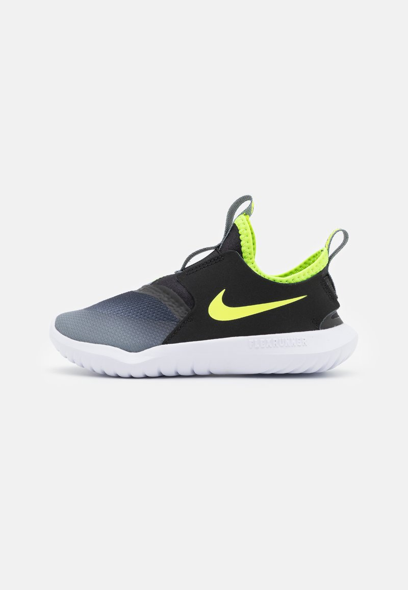 Nike Performance - FLEX RUNNER UNISEX - Hardloopschoenen neutraal - smoke grey/volt/black/white