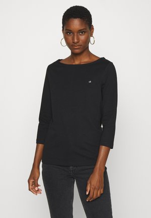 3/4 BOATNECK  - Topper langermet - black