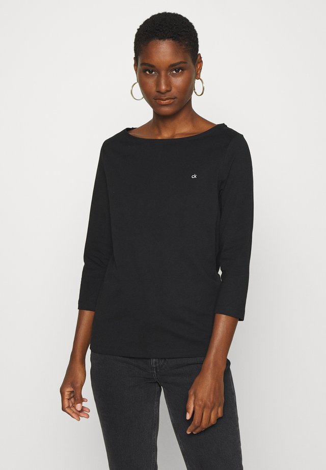 3/4 BOATNECK  - Long sleeved top - black