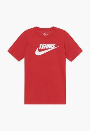 TEE TENNIS - T-shirt print - red/white