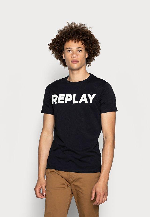 T-shirt med print - midnight blue