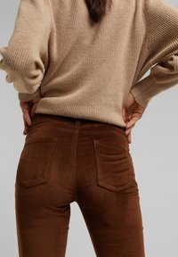 Esprit - FASHION  - Trousers - brown - 7