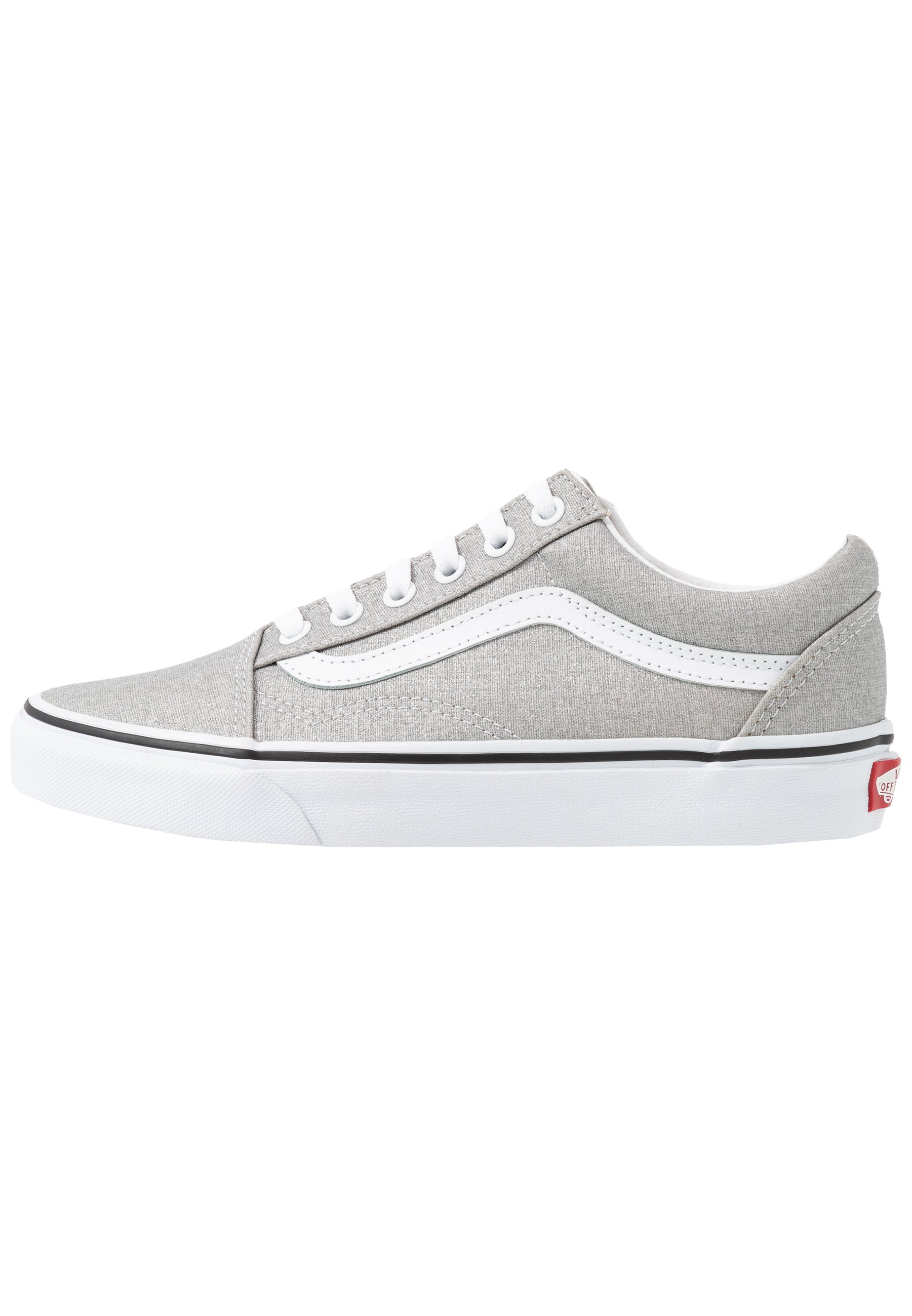UA OLD SKOOL - Sneakers basse - silver/true white