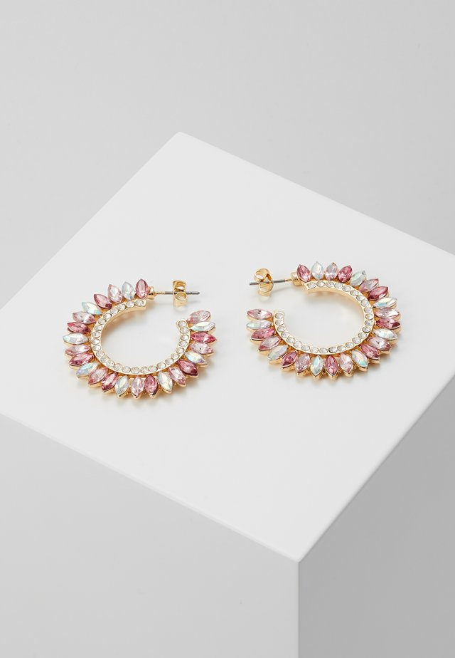 ONLSYLVI EARRING - Boucles d'oreilles - gold coloured/clear/pink/red