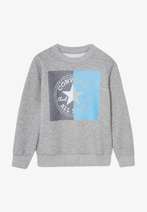 COLOURBLOCK CREW - Sudadera - dark grey heather