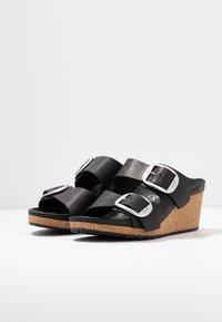 Papillio - NORA - Heeled mules - black - 4