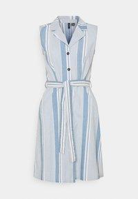 Vero Moda Tall - VMAKELASANDY CHAMBRAY SHORT - Shirt dress - light blue denim/white - 0