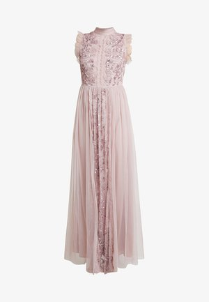 HIGH NECK EMBELLISHED DRESS WITH DETAIL - Occasion wear - frosted pink