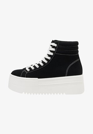 MIT PLATEAU  - High-top trainers - black