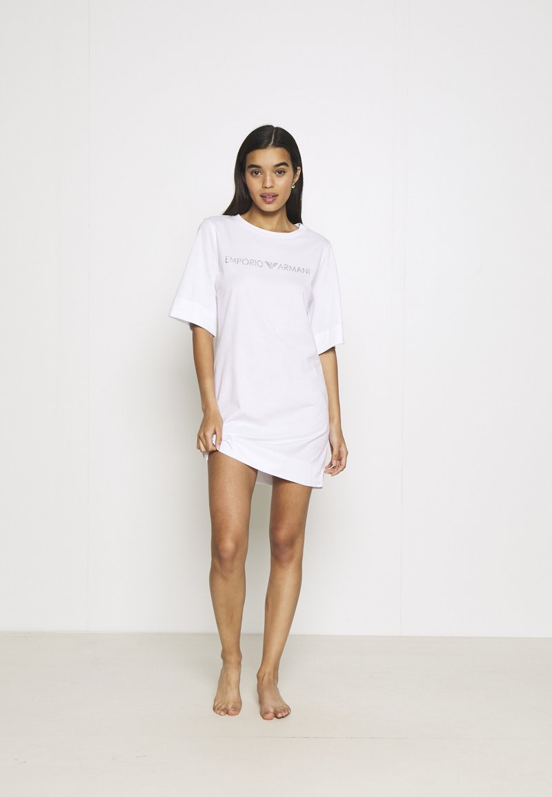 Emporio Armani - MAXI T-SHIRT - Nightie - white/silver