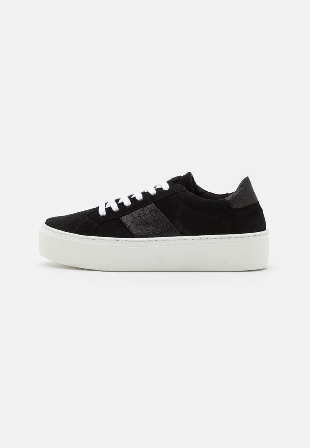 FREYA FLATFORM LACE UP - Joggesko - black