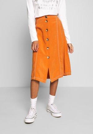 VALLEY MIDI SKIRT - A-line skirt - rust