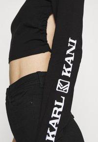 Karl Kani - RETRO CROPPED - Long sleeved top - black - 5