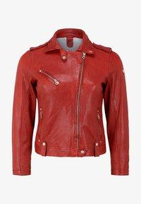 Gipsy - GGFAMOS CF LAMAXV - Leather jacket - red - 2
