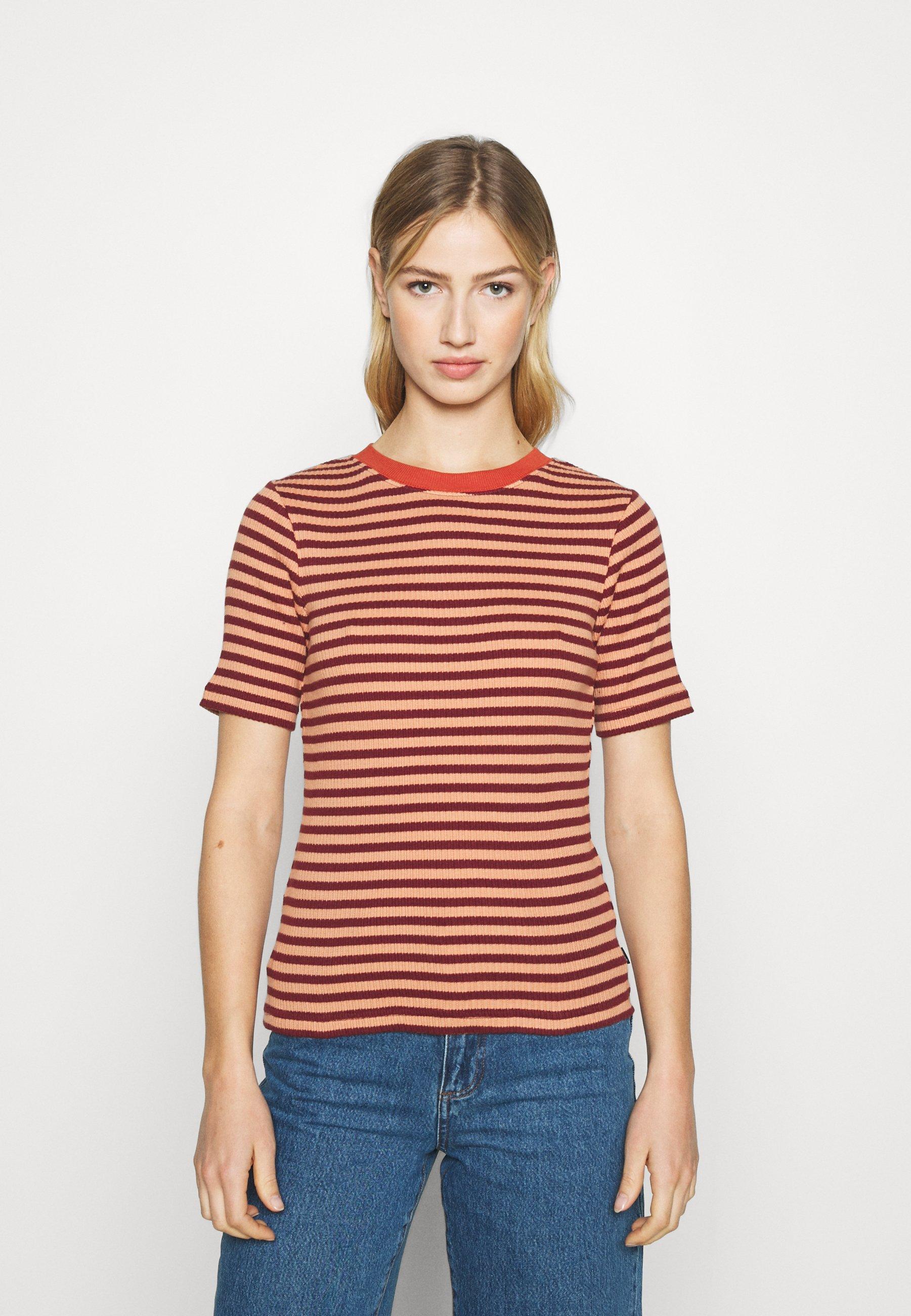 Damen RIBBED TEE - T-Shirt print
