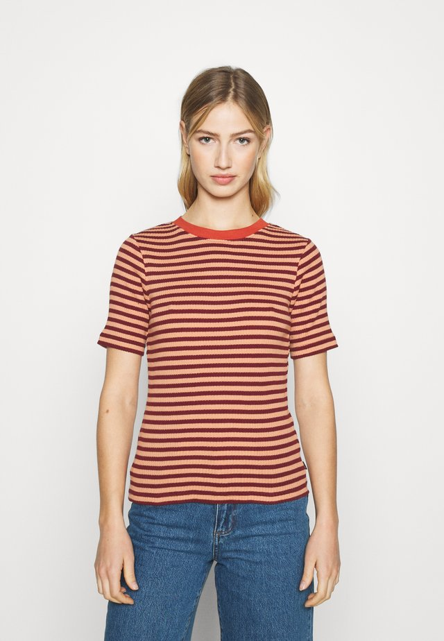 RIBBED TEE - T-shirt print - sandy peach