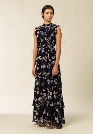 Vestido largo - aop - branche flowers black