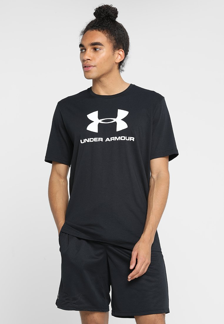 Under Armour - T-shirts print - black/white