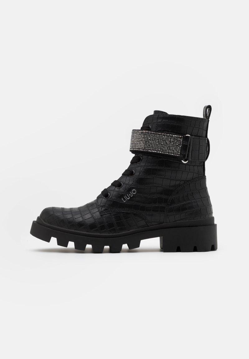 LIU JO - DEBBIE - Šněrovací kotníkové boty - black
