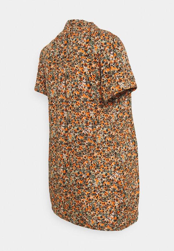 Supermom FLOWER - T-shirt z nadrukiem - coral gold/brązowy QNKC