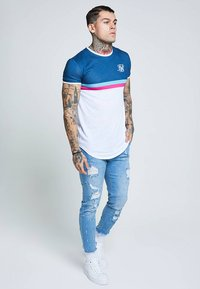 SIKSILK - RAW CUFF CROPPED - Jeans Skinny Fit - blue - 1