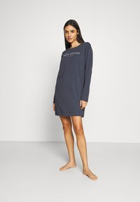 Marc O'Polo - SLEEPSHIRT CREW NECK - Pyjama top - graphit - 1